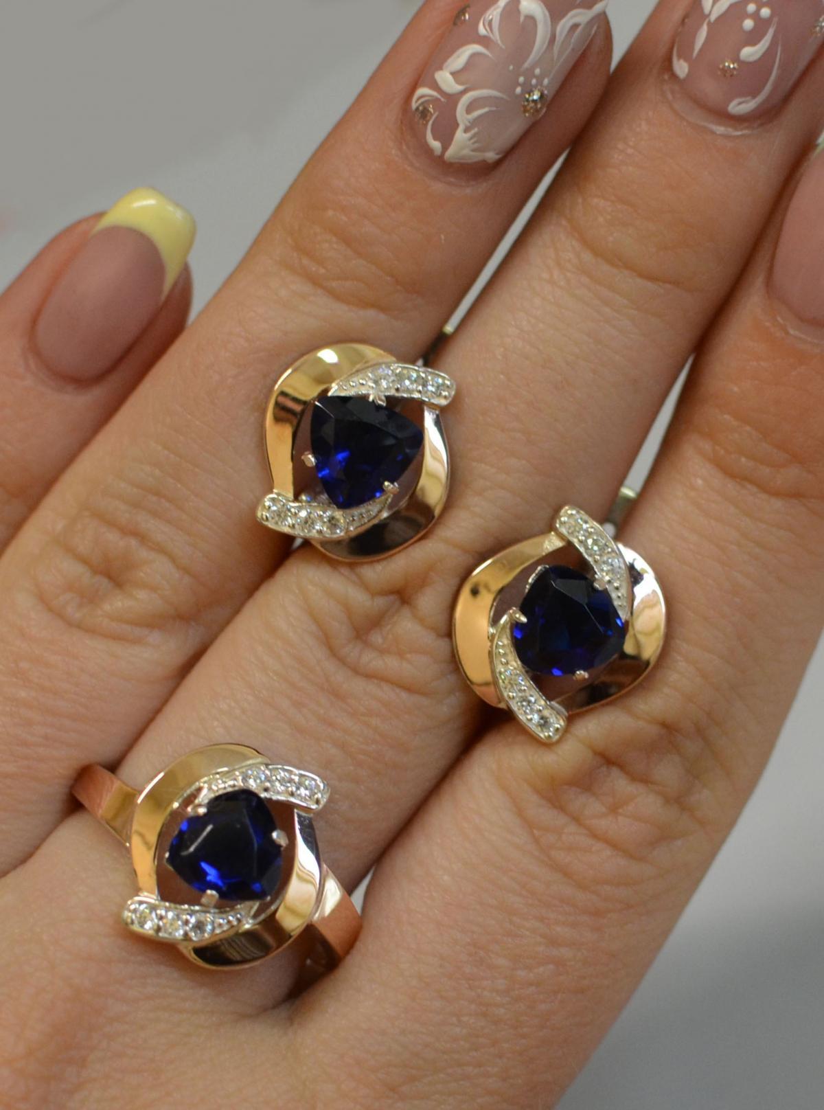 потрудиться, чтобы комплект серьги и кольцо из золота фото отличные большие