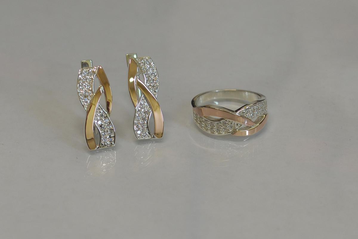 строки комплект серьги и кольцо из золота фото настенные рамы